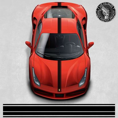 Picture of Ferrari 488 GTB over the top Stripes