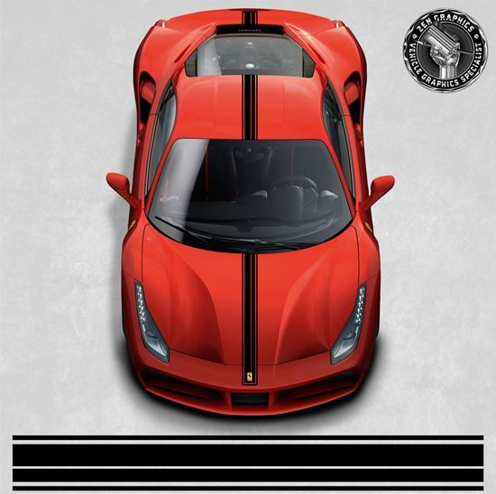 Picture of Ferrari 488 GTB over the top Stripes