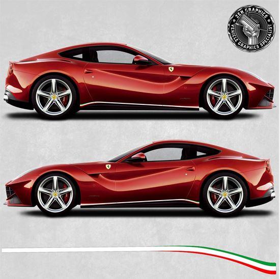 Picture of Ferrari F12 Berlinetta Italia side Stripes