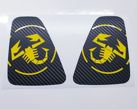 Picture of Fiat 595 / 695 rear centre light Vinyl overlay  / Decals