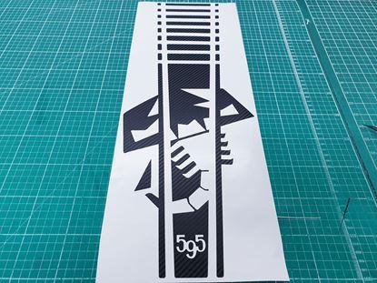 Picture of Fiat 595 Abarth Carbon Fibre Bonnet Stripe / Sticker