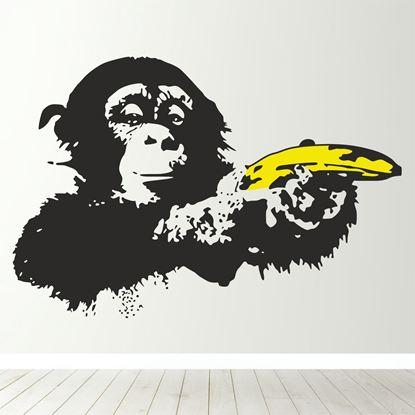 Picture of Banksy Monkey Banana  Wall Art sticker