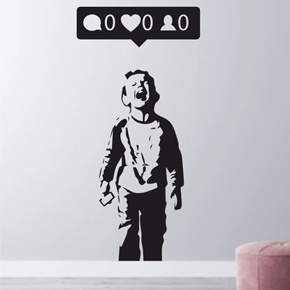 Picture of Banksy, Nobody likes me Wall Art sticker