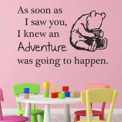 """Picture of """"As soon as I saw you..."""" Winne the Poo Wall Art sticker"""