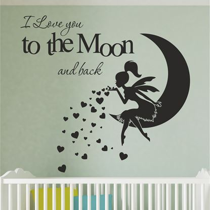 """Picture of """"I love you to the moon and back"""" Wall Art sticker"""
