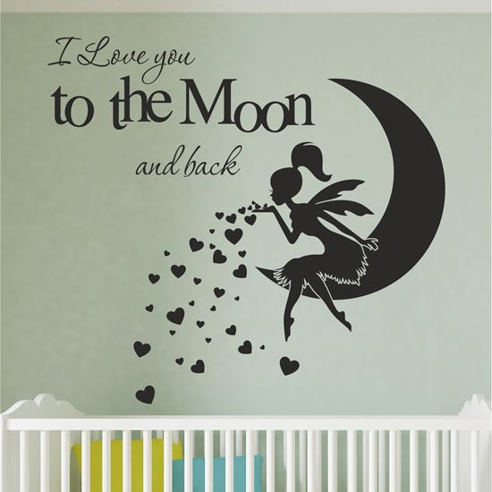 "Picture of ""I love you to the moon and back"" Wall Art sticker"