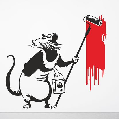 Picture of Banksy Painting Rat Wall Art sticker