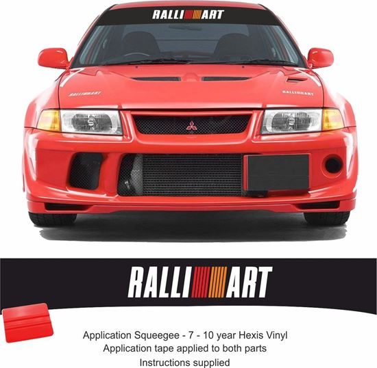 Picture of Mitsubishi Evolution Ralliart Sun strip Decal / Sticker (Fits all Evos)