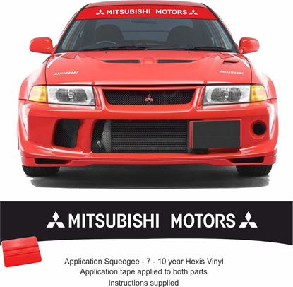 Picture of Mitsubishi Evolution Sun strip Decal / Sticker (Fits all Evos)
