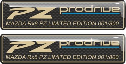 Picture of Mazda RX8 - PZ Limited Edition Sill Plaque Gel Badges