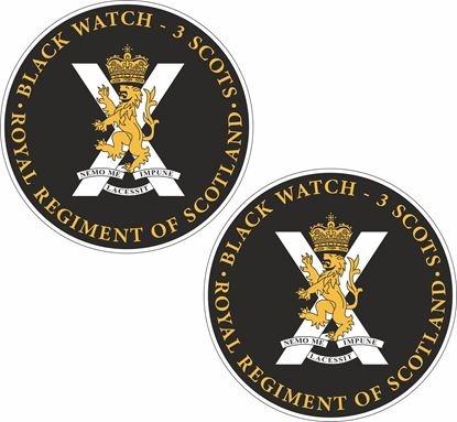 Picture of Black Watch Scotland Regiment Stickers