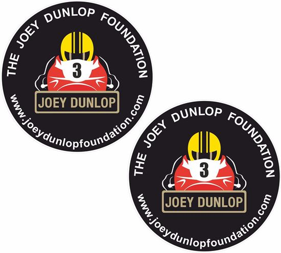 Picture of Joey Dunlop Foundation Decals / Stickers