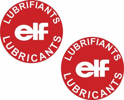 """Picture of Renault """"Elf Lubrifiants"""" replacement Oil cap Decal / Sticker"""