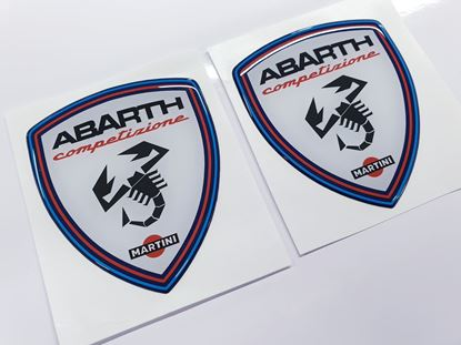 Picture of Fiat Abarth Competizione Martini wing Badges 80mm