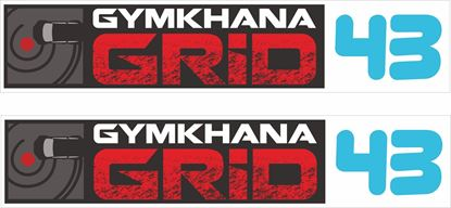 Picture of Gymkhana Grid 43 Decals / Stickers