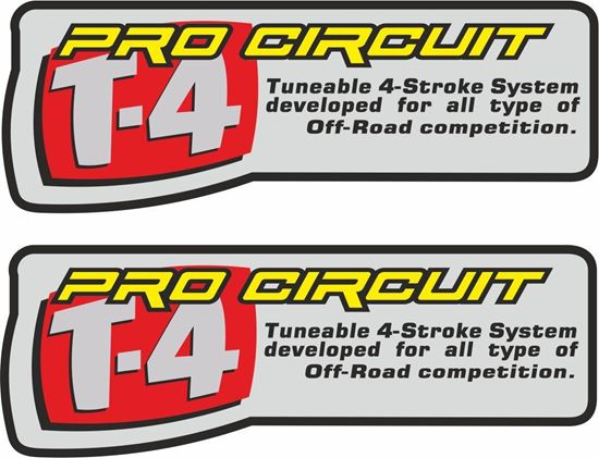 """Picture of """"Pro Circuit T-4""""  Decals / Stickers"""