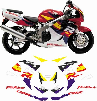 Picture of Honda CBR 900RR  Fireblade 1996 - 1997 replacement Decals / Stickers