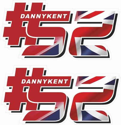 Picture of Danny Kent #52 Decals / Stickers