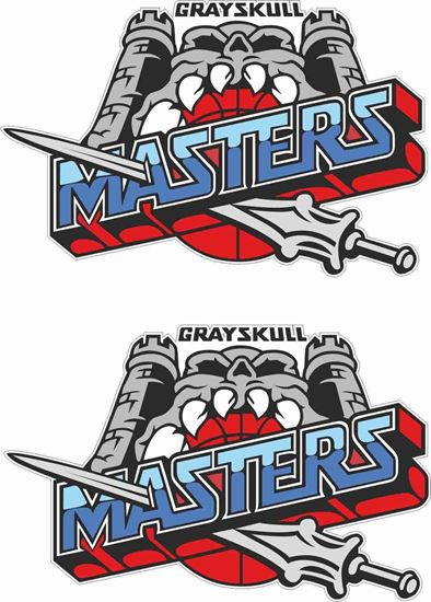 Picture of He Man Gray Skull Masters Decals / Stickers