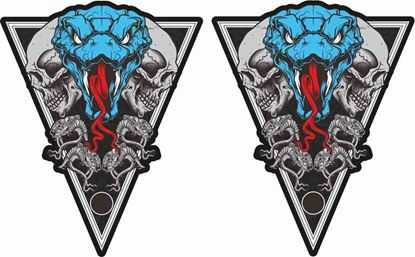 Picture of Snake and Skulls Decals / Stickers