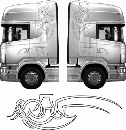 Picture of Truck cab Eagle Tribal  side Graphics / Stickers