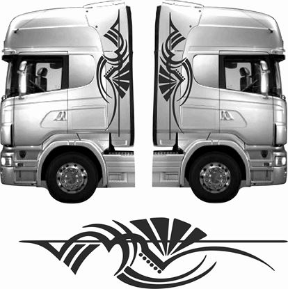 Picture of Truck cab Tribal  side Graphics / Stickers