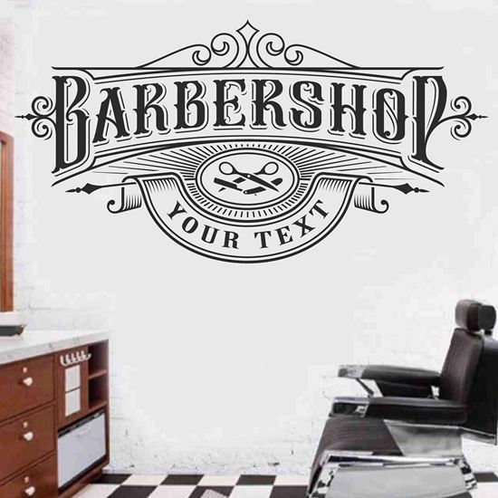 """Picture of """"Barber Shop"""" Wall Art sticker"""