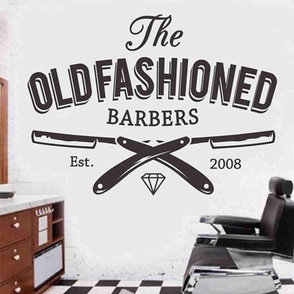 "Picture of ""The Old Fashioned Barbers"" Wall Art sticker"