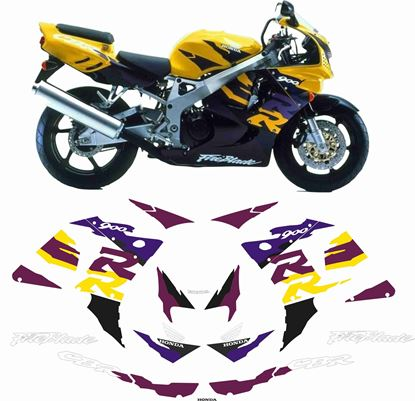 Picture of Honda CBR 900RR Fireblade SC33 1996  - 1997 replacement Decals / Stickers