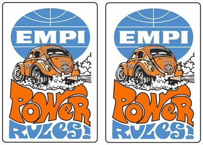 Picture of EMPI Power Rules  Decals / Stickers