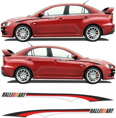 Picture of Mitsubishi Lancer Evolution 10 Ralliart Stripes  / Stickers