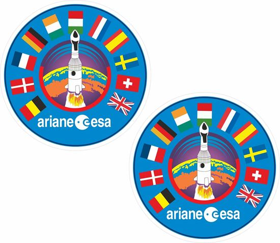 Picture of ESA ariane European Space Agency Decals / Stickers