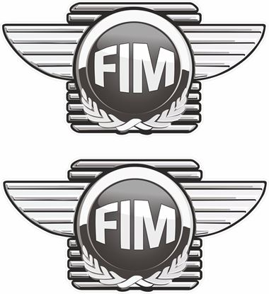 Picture of FIM -  Fed Int Motocyclisme Decals / Stickers