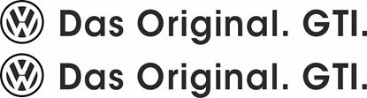 "Picture of ""DAS Original. GTI"" Decals / Stickers"