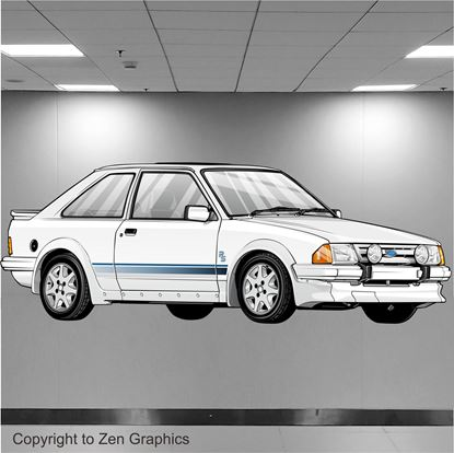 Picture of Ford Escort Series 1 RS Turbo Wall Art sticker (full colour)