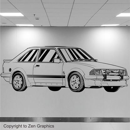 Picture of Ford Escort Series 1 RS Turbo Wall Art sticker