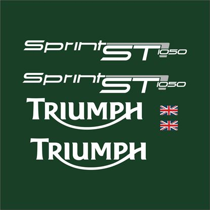 Picture of Triumph Sprint ST 1050 2011 - 2012 Racing Green replacement Decals / Stickers