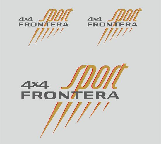 Picture of Vauxhall / Opel Frontera Sport replacement Decals / Stickers