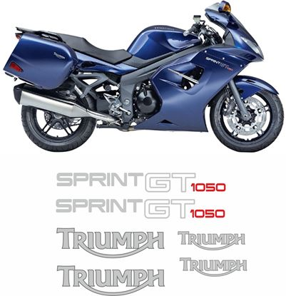 Picture of Triumph Sprint GT 1050 2010 - 2016 replacement Decals / Stickers