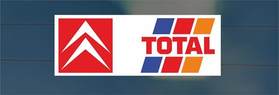 Picture of Citroen Total rear Glass Decal / Sticker (Earlier Design)