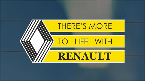 Picture of Renault classic rear Glass Decal / Sticker
