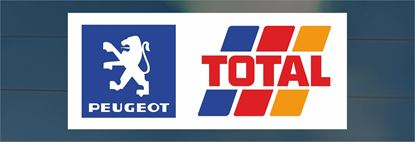 Picture of Peugeot Total rear Glass Decal / Sticker