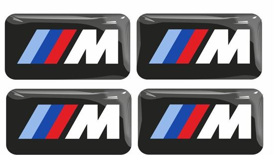 Picture of BMW M Sport 17mm x 9mm Wheel Adhesive Badges