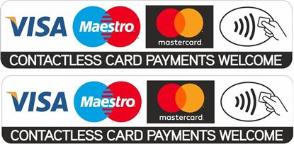 Picture of Contactless Card Payments Welcome Decals / Stickers