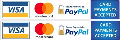 Picture of Card Payments Accepted Decals / Stickers