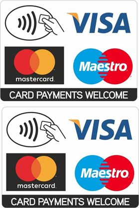 Picture of Card Payments Welcome Decals / Stickers
