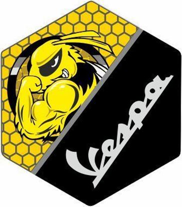 Picture of Vespa Bee front Fairing Horncast insert for Badge Holder