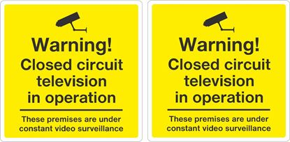Picture of Warning CCTV Decals / Stickers