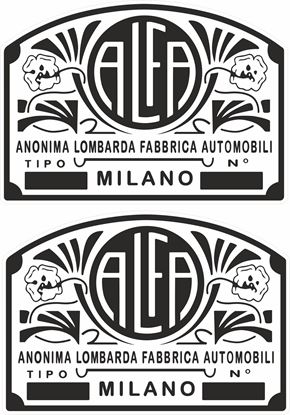 Picture of Alfa Romeo Classic Decals / Stickers