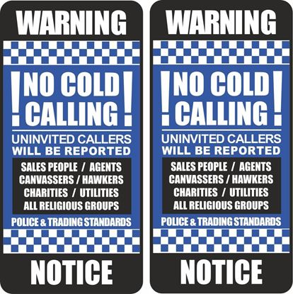 Picture of No Cold Calling Decals / Stickers